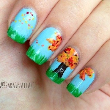 Dancing in september nail art by Sara T