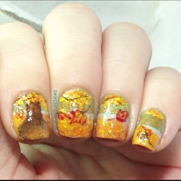 Autumn nails nail art by Mycrazydesigns