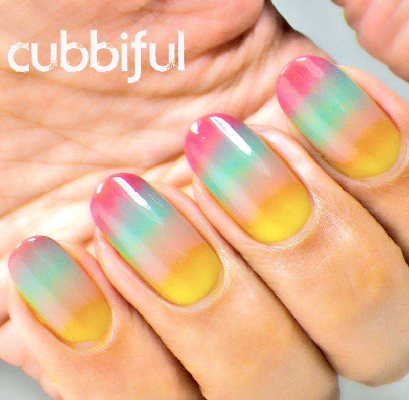 Diy Autumn Gradient Nail Art: Autumn Gradient Nails Nail Art By Cubbiful