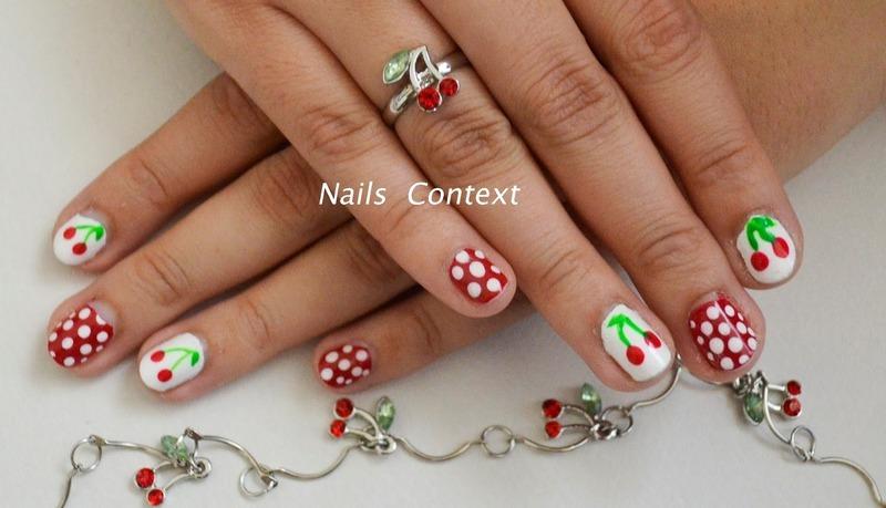 Cherry Nail Art nail art by NailsContext