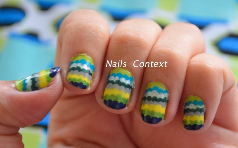 Ruffle Mani nail art by NailsContext