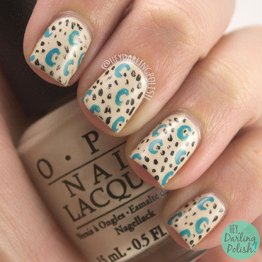 Black blue pattern nail art 4 thumb370f