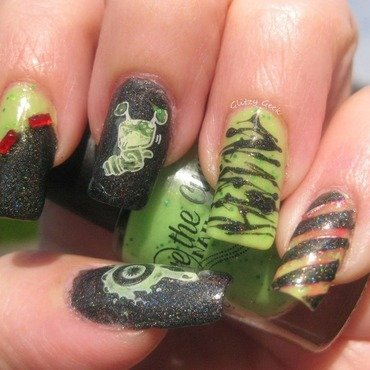 Bump In The Night nail art by Andi