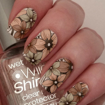 Fall Floral nail art by Gr8Nails