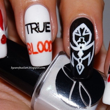True Blood nail art by Margriet Sijperda