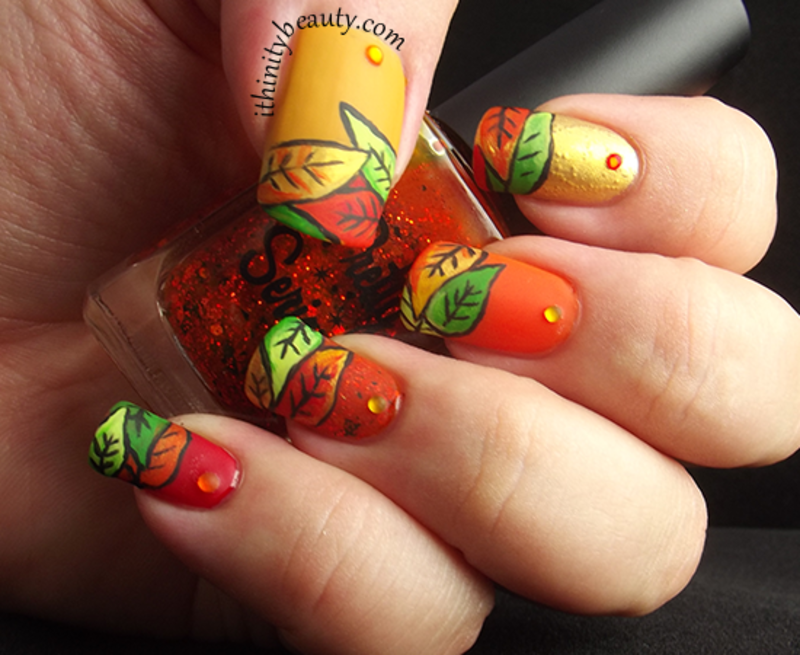 Crisp Autumn Leaves nail art by Ithfifi Williams - Nailpolis: Museum ...