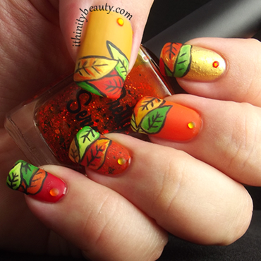 Crisp Autumn Leaves nail art by Ithfifi Williams