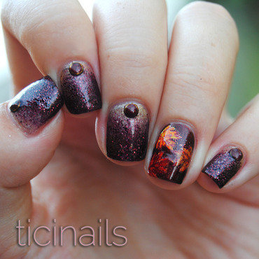 Hello, Autumn nail art by Patricija Zokalj