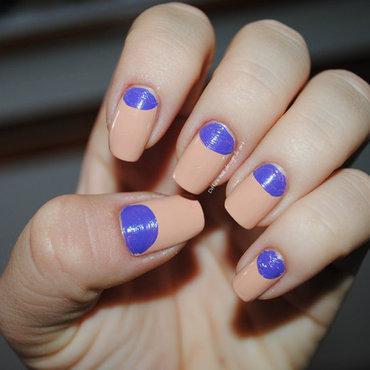 Halfmoons nail art by Ditta