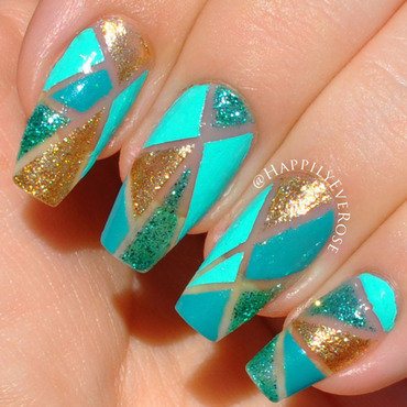 Geometric  nail art by HappilyEver Rose