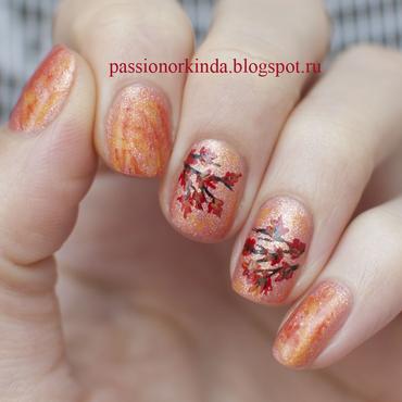 Fall manicure nail art by Passionorkinda