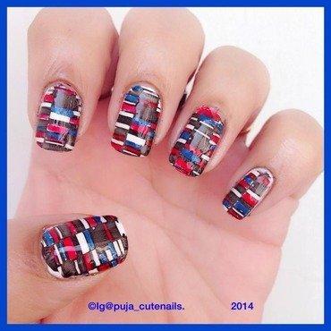 Geometric nail art nail art by Puja Malhotra