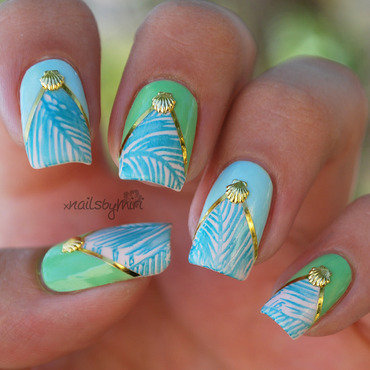 Tropical nails nail art by xNailsByMiri
