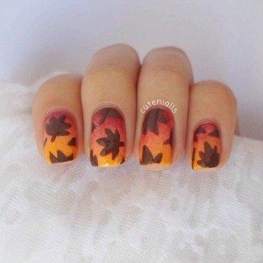 Fall Nails nail art by Cute Nialls