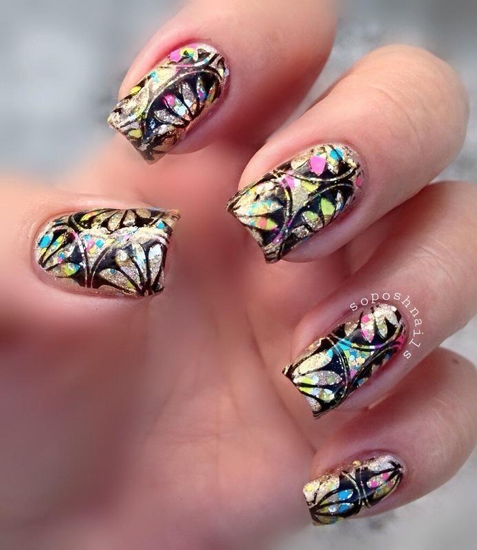 Lotus Flowers and Glitter nail art by Debbie - Nailpolis: Museum of ...