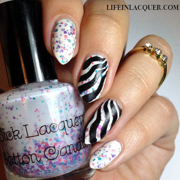 Bridget Riley Inspired Mani  nail art by Jade  Bishop