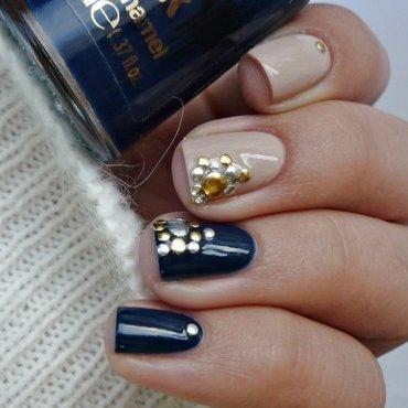 Studs nail art nail art by Romana