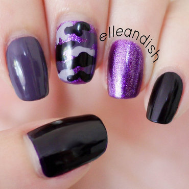 Purple Camouflage Nails nail art by elleandish
