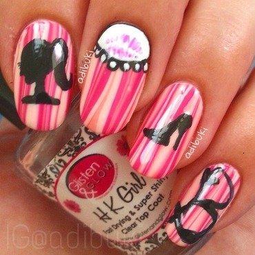 Girly Watermarble Nails ❤️ nail art by Adi Buki