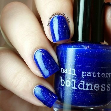 Nail Pattern Boldness Bigger On The Inside Swatch by sevenseasofpolish