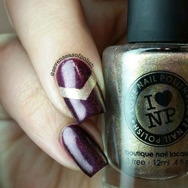 I Love Nail Polish Iconic and I Love Nail Polish Black Orchid Swatch by sevenseasofpolish