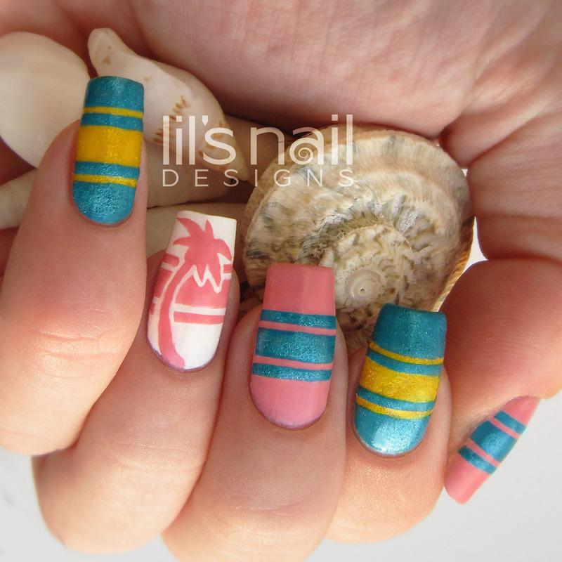 Friends of Curaçao  nail art by Lily-Jane Verezen