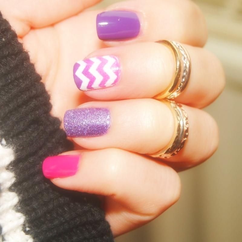 Purple Mix nail art by Lackopfer