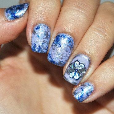SprayMarble nail art by Patricija Zokalj