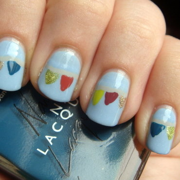 Flags in the wind nail art by Elin The Cupcake Cat