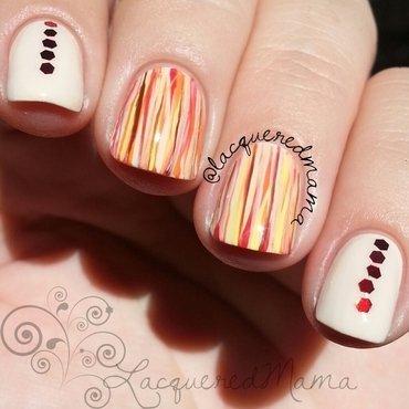 Fall Stripes nail art by Jennifer Collins