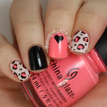 Neon Leopard Print Skittle nail art by Kelli Dobrin