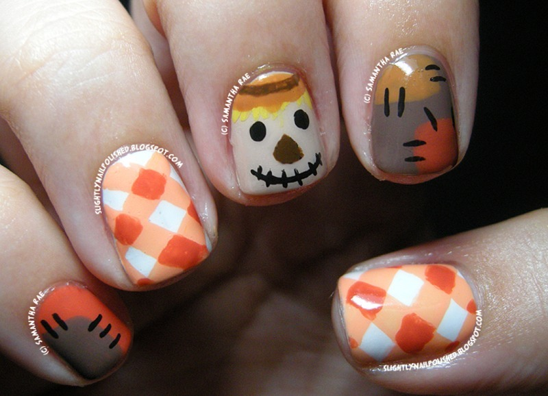 Autumn Scarecrow... nail art by Samantha Rae - Nailpolis ...