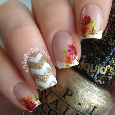 Fall Leaves Nails nail art by Erin