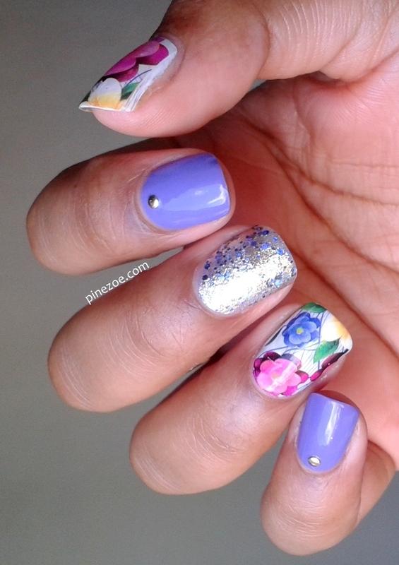 Flower Mix &Match nail art by Pinezoe
