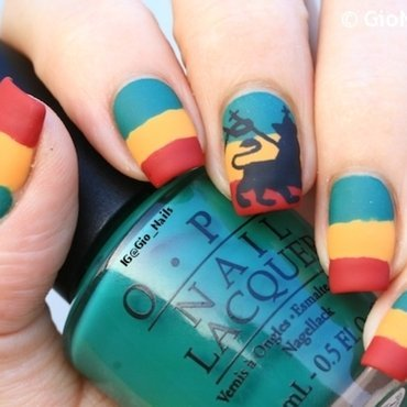 Jah Rastafari nail art by Giovanna - GioNails