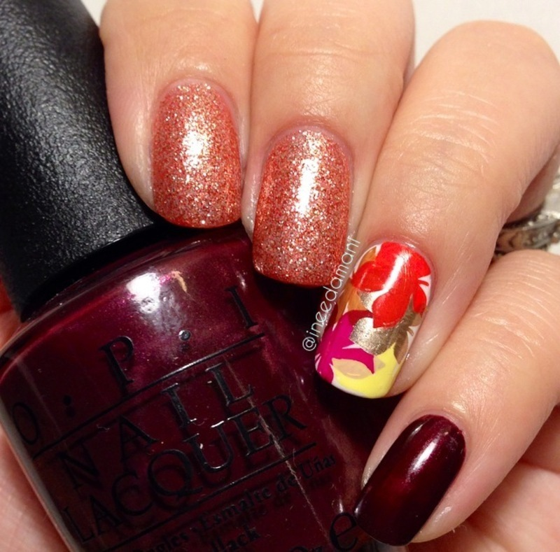 Color of Fall nail art by Carmen Ineedamani