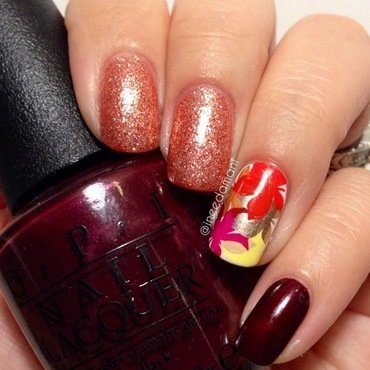 Color of Fall nail art by Carmen Ineedamani