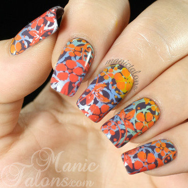 Double Gradient Stamping for Fall nail art by ManicTalons