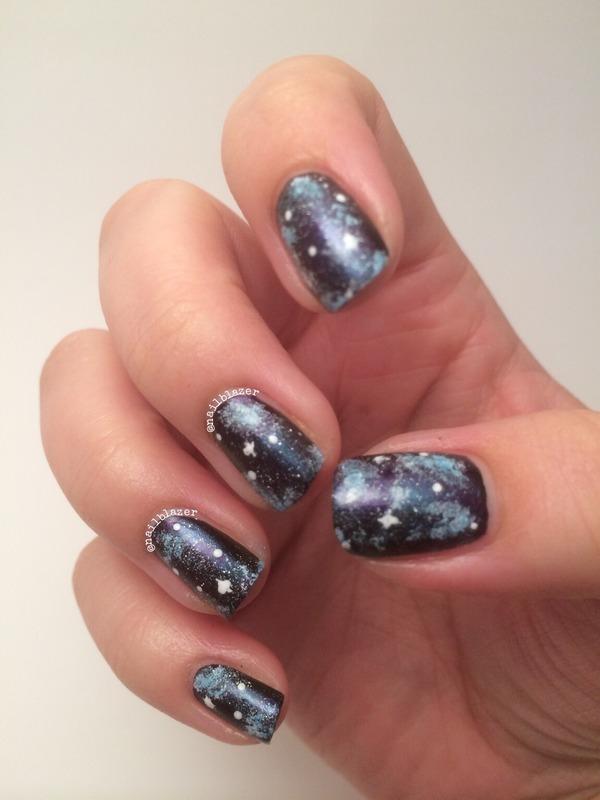 #31DC2014 Day 19 - Galaxies nail art by Nailblazer