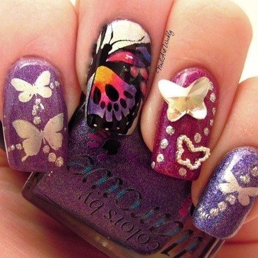 Fly Away nail art by Karolyn