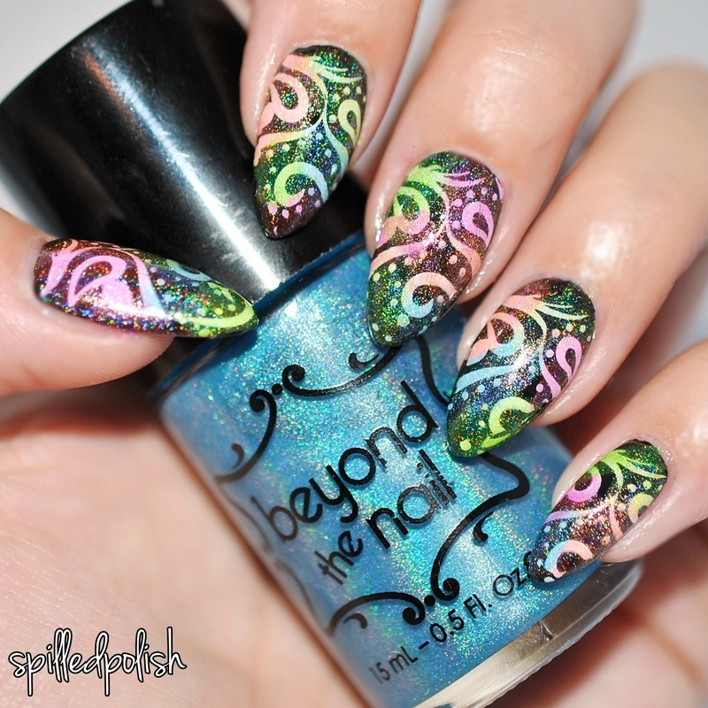 Leadlighting with Jelly Polishes nail art by Maddy S