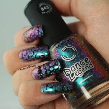 Bubbles nail art by Karolyn