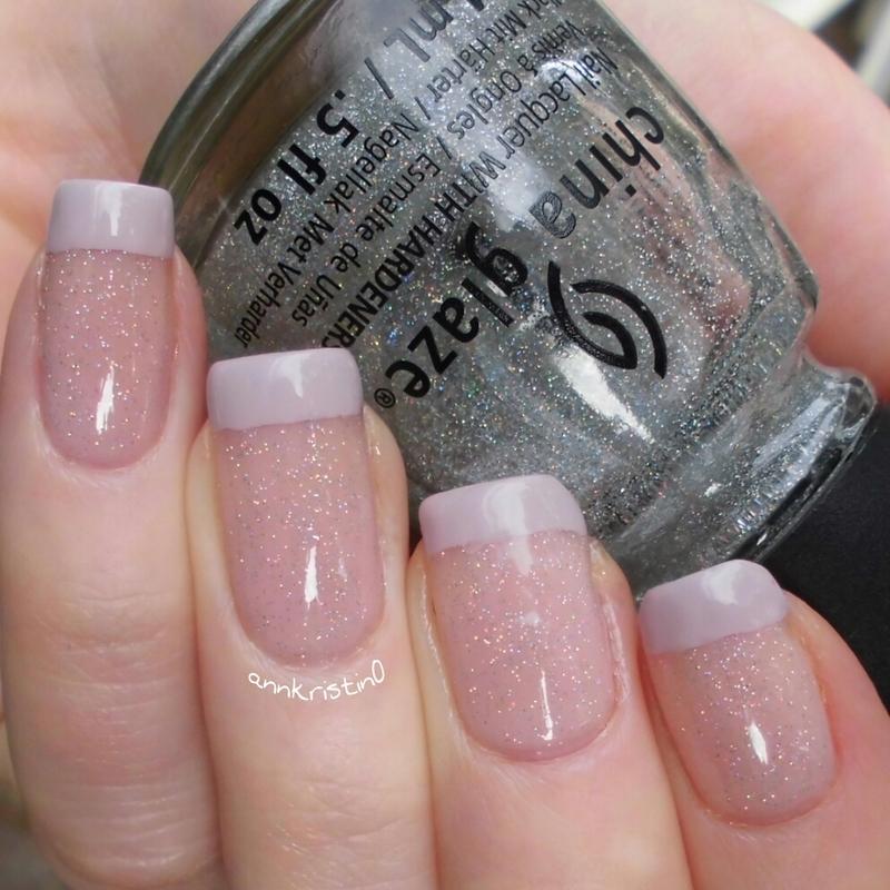 Twist on a simple French nail art by Ann-Kristin
