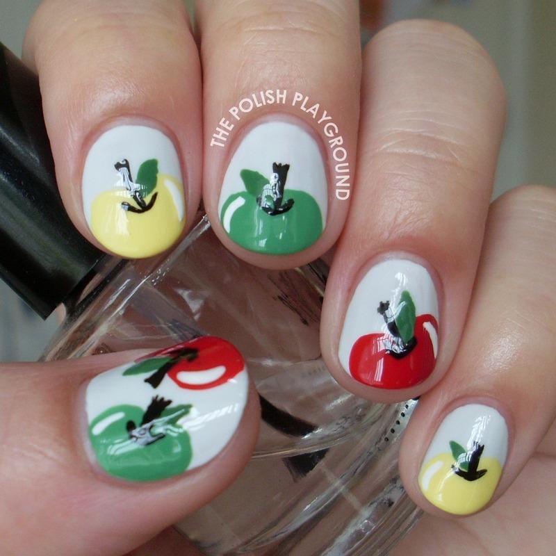 Crisp and Delicious Apple Nail Art nail art by Lisa N