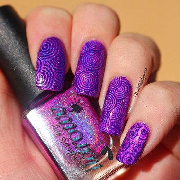 Circles of Life nail art by Karolyn