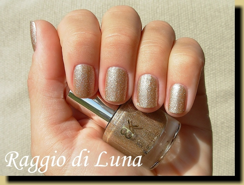 Born Pretty Store BK Crystal Sand Nail Polish n° 13 Golden Swatch by Tanja
