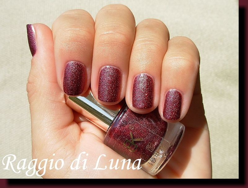 Born Pretty Store BK Crystal Sand Nail Polish n° 18 Dark Vine Swatch by Tanja