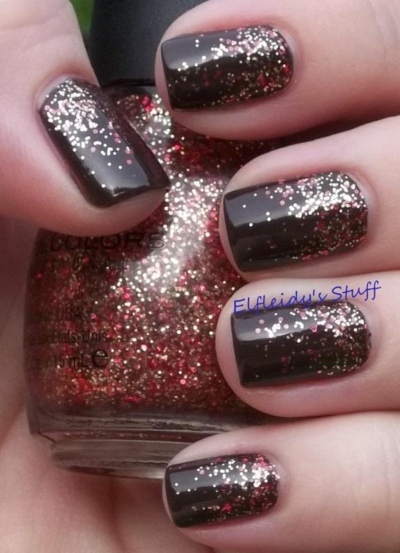 Fall glitter gradient nail art by Jenette Maitland-Tomblin