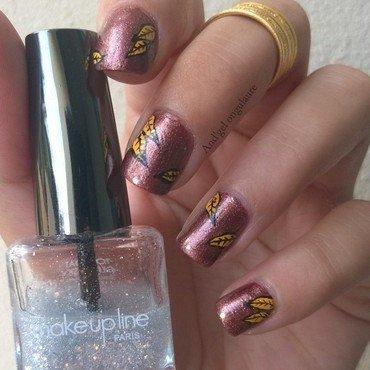 L'automne est la ---> Autumn is the nail art by And'gel ongulaire