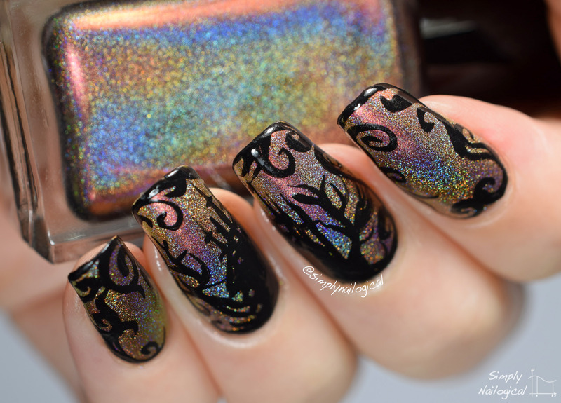 Enchanted castle silhouette nail art by simplynailogical